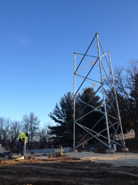 Communications Towers And Equipment Shelter Installation