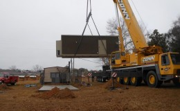 Fiber Optic Regeneration Site –  crane-lift