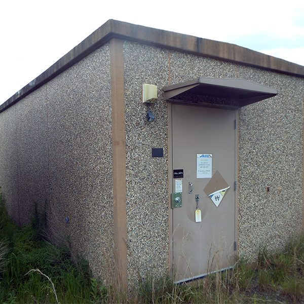 fibrebond 12x28 concrete communications shelter - 3543