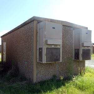 fibrebond 12x28 concrete communication shelter - 6120