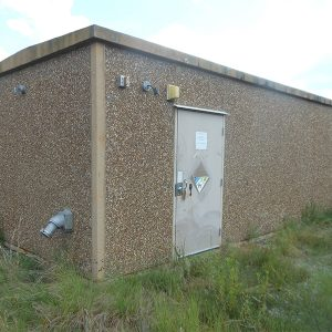 fibrebond 12x28 concrete communications shelter - 5274