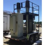 used 60 foot dual mast cell on wheels - 5032, 5033