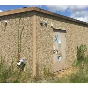 fibrebond 12x28 concrete communications shelter - 7032