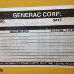 generac ng 45kw used generator for sale