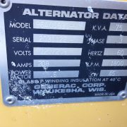 used 45kw natural gas generator for sale