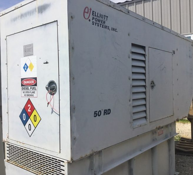 50KW Elliott Power Systems diesel used generator - J888