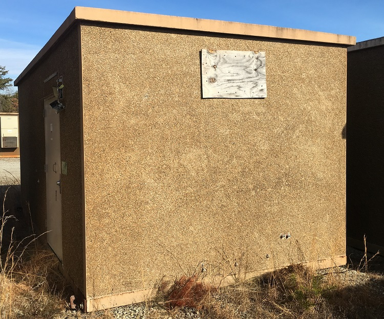 used cellxion 12x20 concrete shelter - 3852
