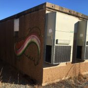 used 10x20 pfs corp concrete shelter - 4565