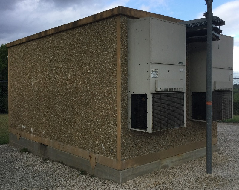 used kontek 12x20 concrete shelter - 1291