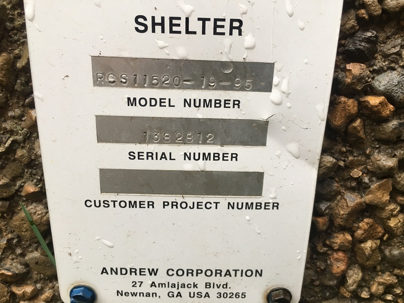 used 12x20 andrew communication shelter - 2812