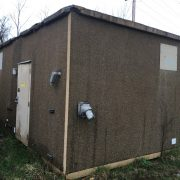 used andrew 12x20 concrete shelter - 2812